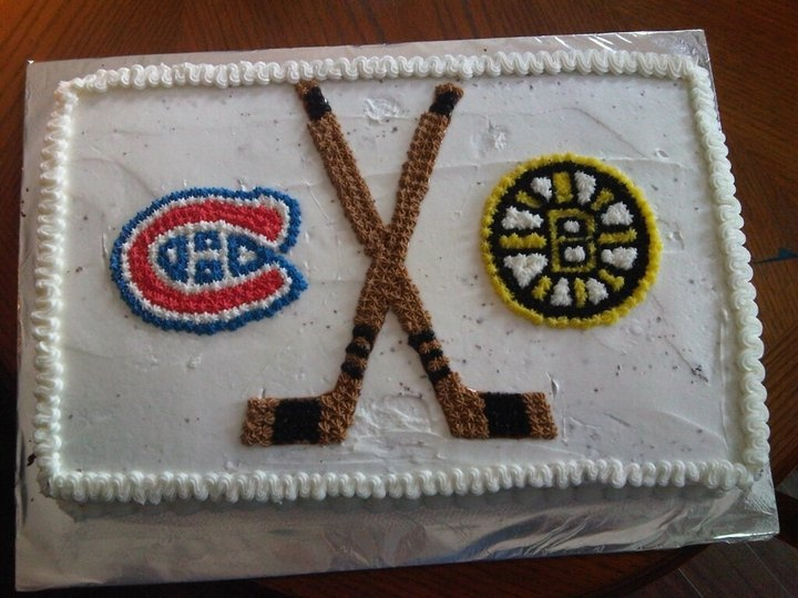 Une rivalité sucrée, par Collin Ethier/ Rivalry cake, submitted by Collin Ethier