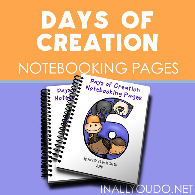 Help your kids remember what God created on each day with these Free Days of Creation Notebooking Pages. With over 80 pages in 3 different handwriting levels, these are perfect for PreK thru adult. :: www.thriftyhomeschoolers.com