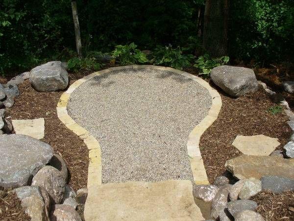 Pea Gravel Patio Polymers | Pea Gravel With Limestone Edge