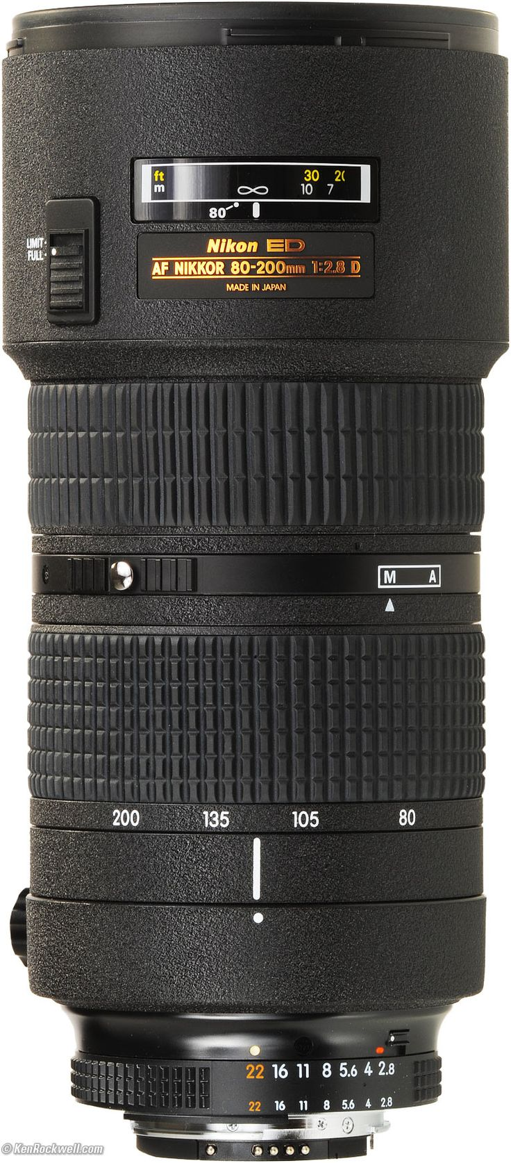 The Nikon AF Zoom-Nikkor 80-200mm f/2.8D ED Lens is a fast telephoto zoom lens, ideal for indoor sports photography and photojournalism in dim light. It incorporates Autofocus (AF) and Internal Focusing (IF) technology and ED glass for sharp pictures.