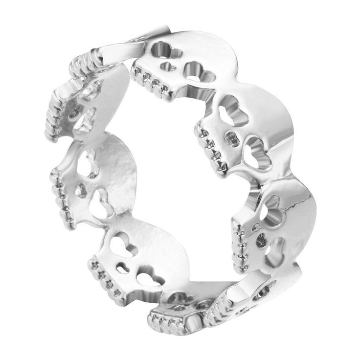 Goud Zilver Vintage Schedels Ring Voor Infinity Mannen Sieraden Skelet Schedel Ringen Band Geek Gift Vintage Mode voor Vrouwen Meisjes