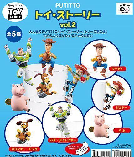 Putitto Kitan Club Gashapon Toy Story Mini Figures 8 Pcs Set Woody