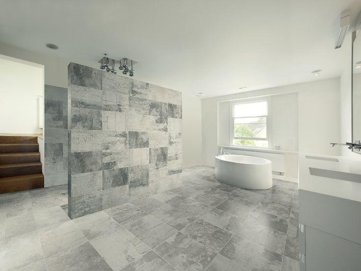 Les informations sur le produit carrelage dintérieur de salle de bain au sol en grès cérame design industry raw light ceramiche refin