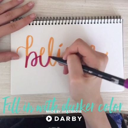 Brush Lettering Techniques with Tombow Brush Pens #darbysmart #diy #diyprojects #diyideas #diycrafts #easydiy #artsandcrafts #calligraphy #handlettering
