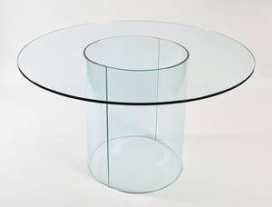 Viva Modern Carosello Round   Dining Tables   Oval/elliptical top   Glass   Dining Room Ultra Modern