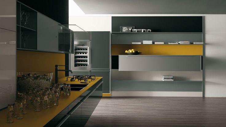 Armario de cozinha amarelo