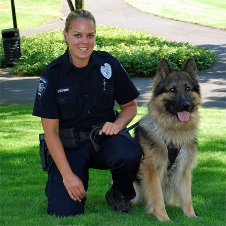 K9 Police Dog with handler.