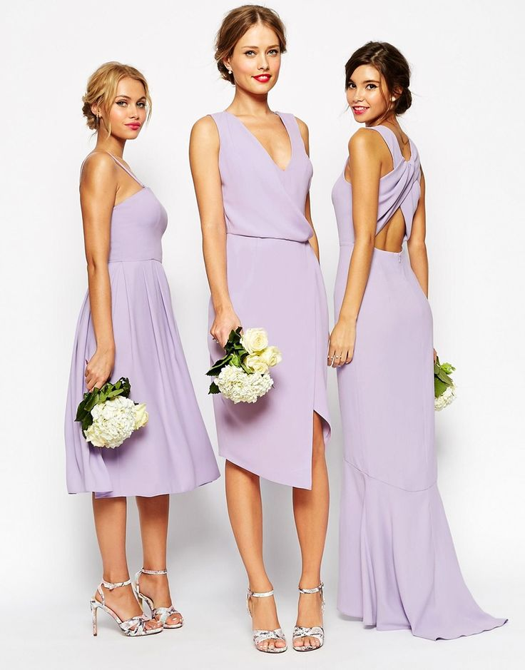 Bridesmaids in lavender | ASOS Weddings