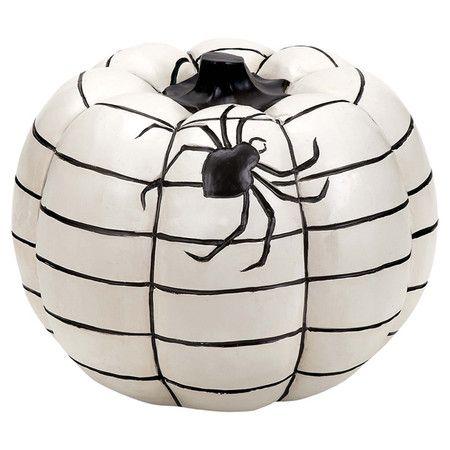 Small Spiderweb Pumpkin Decor