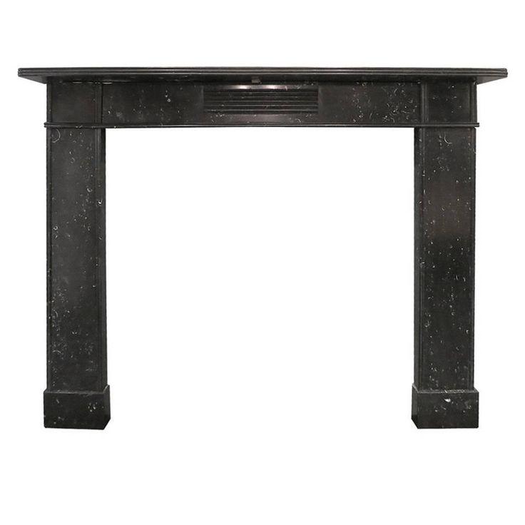 Antique Irish Kilkenny Marble Fireplace Mantel