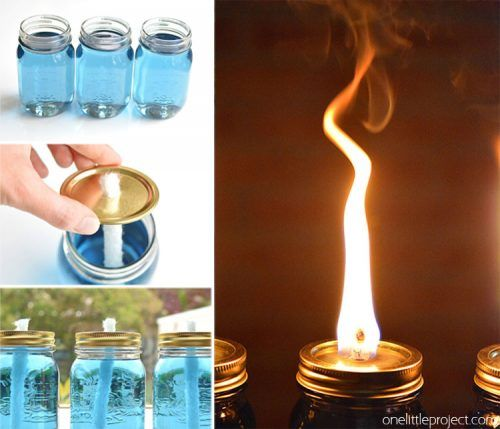 "Make Your Own Citronella Jar Candle Homesteading  - The Homestead Survival .Com     ""Please Share This Pin"""
