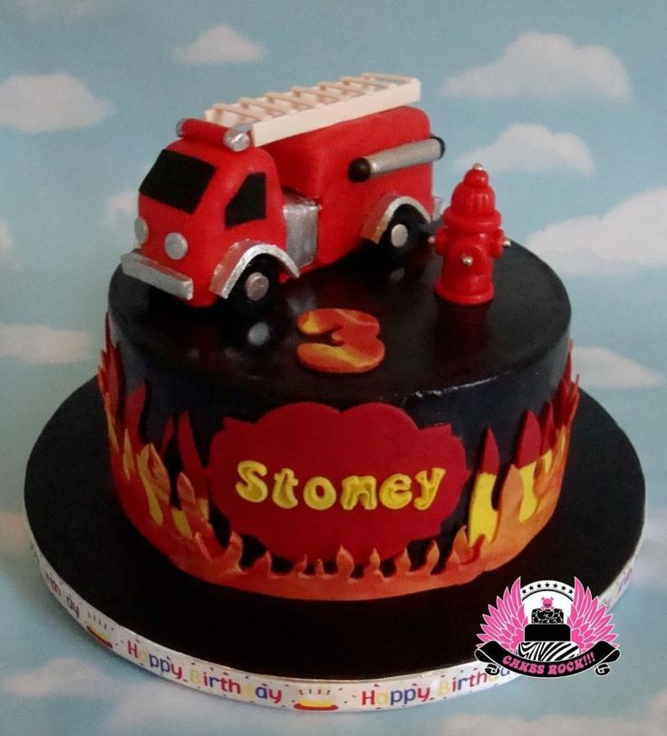 Vintage Fire Truck Cake