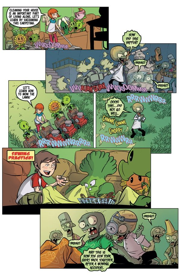 Preview: Plants Vs. Zombies: Grown Sweet Home #5, Plants Vs. Zombies ...