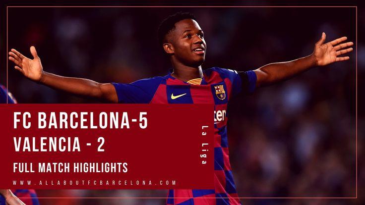 Enjoy Barcelona Destroying Valencia By 5 2 With Roy Hudson Commentary Valencia Barcelona Enjoyment