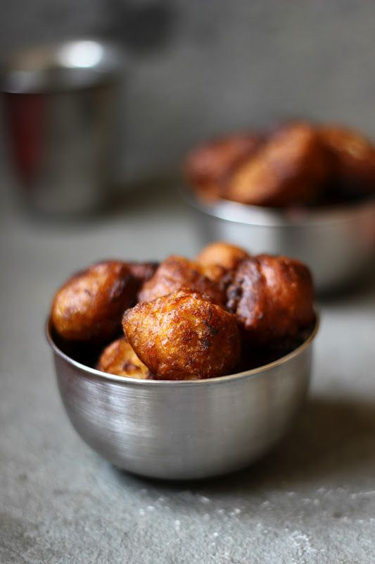 Bondas--think banana fritters: Fun Recipes, Healthy Snacks, Ripe Bananas, Food, Deep Fried, Fried Bananas, Bonda, Bananas Breads, Fried Ripe