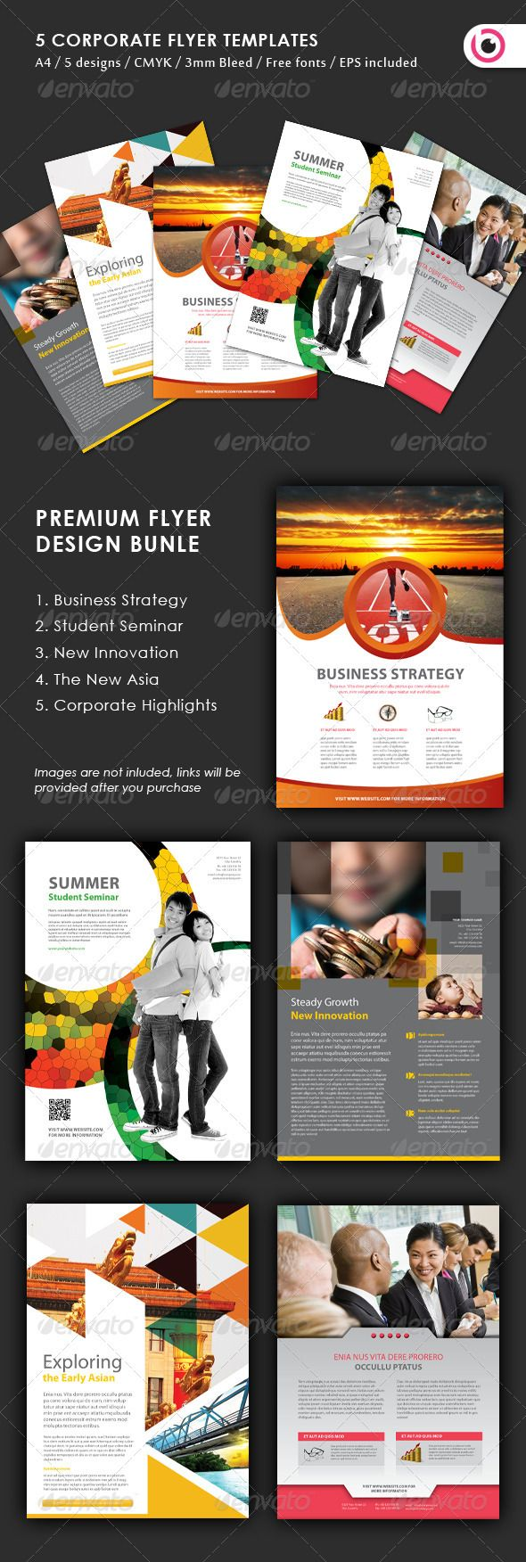 5 Flyer Design Templates - Corporate Flyers