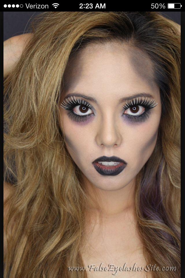 Light zombie makeup -- Halloween