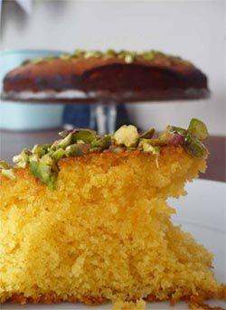 Zesty Pistachio and Polenta Cake-almond-polenta