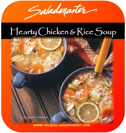 Hearty Chicken & Rice Soup | #GlutenFree #Saladmaster #Recipes |  For more, check out www.recipes.saladmaster.com  #316ti #StainlessSteel #Cookware #LifetimeWarranty