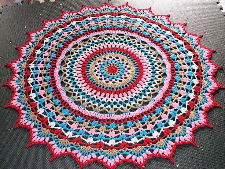 Crochet Mandala Blanket Pattern Blankets Pinterest