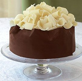 Chocolate Mousse Layer Cake  http://www.recipe.com: Press Chops, Chocolates Curls, Layered Cakes, Fun Recipes, White Chocolates, Trifles, Chocolates Bands, Chocolate Curls, Toast Walnut