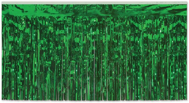 Wholesale Packaged 2-Ply FR Metallic Table Skirting - Green (Case of 6)
