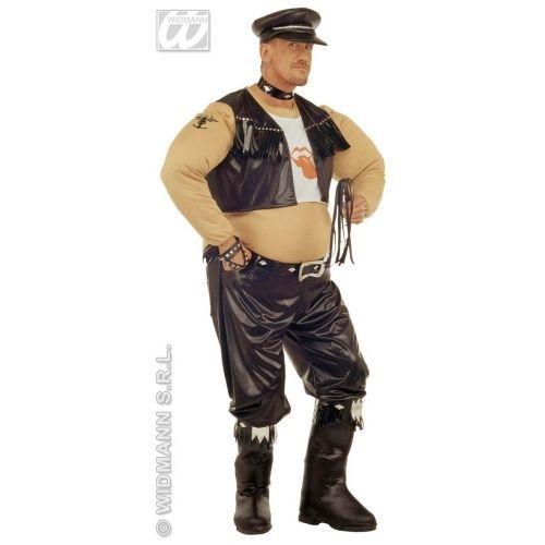 M/L Mens Fat Biker Costume for Biker Rocker Fancy Dress   £51.00 (BIN)