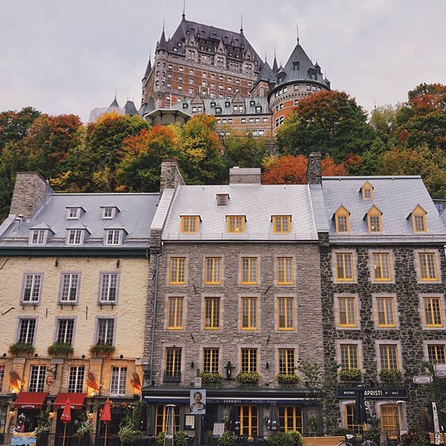 The Colors Of Quebec Yesterday Morning In The Quartier Du