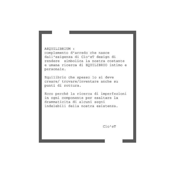 AEQUILIBRIUM, la nuova concezione di equilibrio di Clo'et design. #cemento #vetro #acciaioinox #design #serielimitata #aequilibrium #carica #ClippedOnIssuu da una pubblicazione issuu