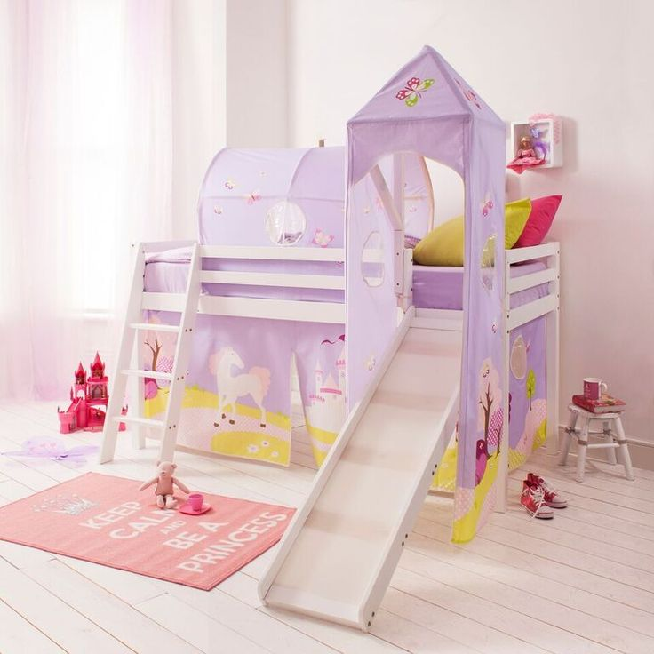 princess fairytale cabin bed with slide tent tower u0026 tunnel from