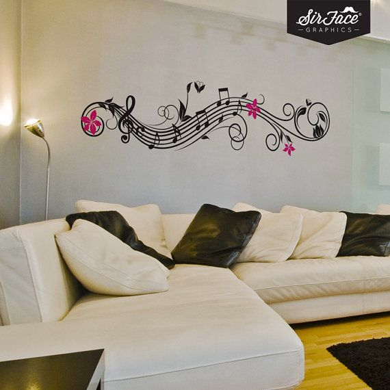 He encontrado este interesante anuncio de Etsy en https://www.etsy.com/es/listing/154158338/musical-flowers-wall-decal-music-wall