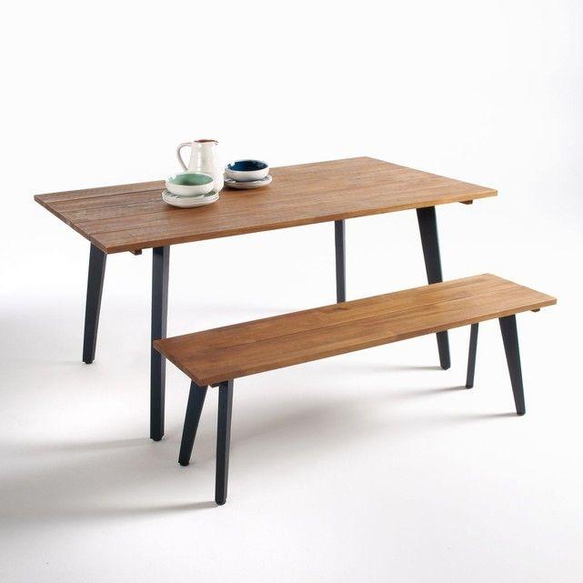 Table de jardin, acacia FSC®*, Hiba La Redoute Interieurs ...