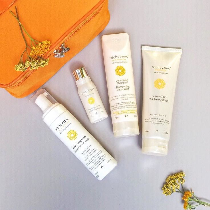 The Volumising Orange Soft Pack- a powerful quartet to combat limp fine and oily hair. #trichovedic #hairwisdom #luxuryhaircare #volumising