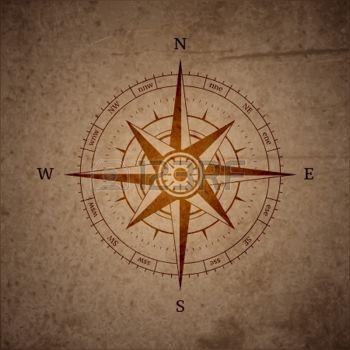 boussole: Symbole de la boussole de navigation rétro illustration vectorielle
