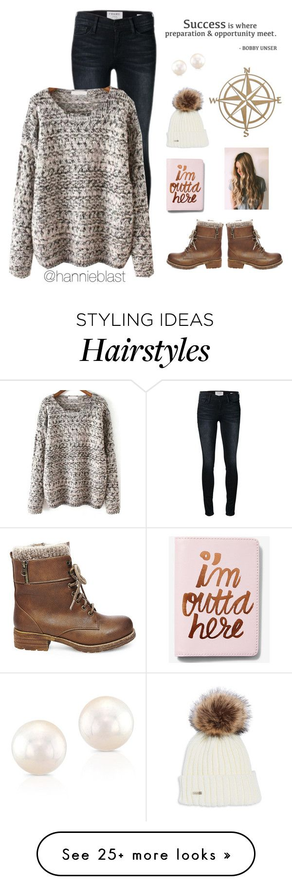 """""""O P P O R T U N I T Y"""" by hannieblast on Polyvore featuring Frame, Steve Madden, Anne Sisteron, WALL and Express"""