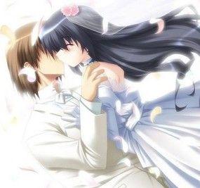anime couples wedding kiss anime love pinterest