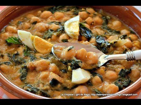 Potaje de Garbanzos y Espinacas con Picada de Almendras - YouTube