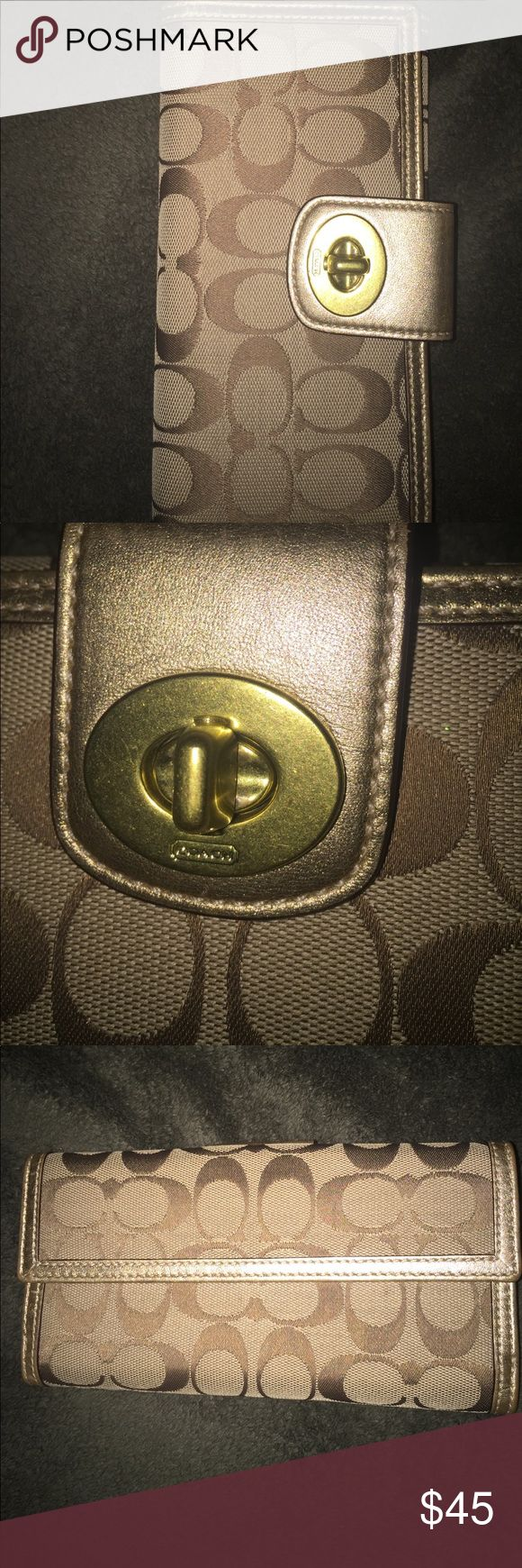coach wallet used only a couple of times, has small marking on one slot of credit card holder as seen in the last picture. this wallet is in mint condition besides that! Coach Bags Wallets