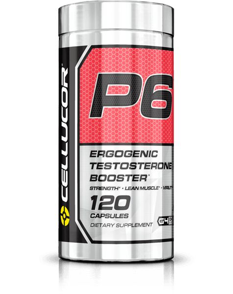 P6 Red: Testosterone Boosting Supplement to Increase Lean Muscle Mass - Cellucor