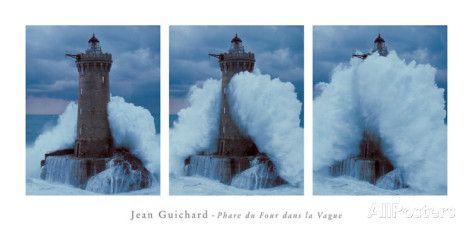 Phare du Four Dans la Vague Prints by Jean Guichard at AllPosters.com