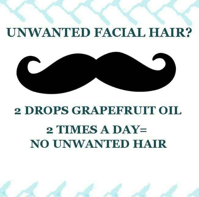 Grapefruit oil for unwanted facial hair