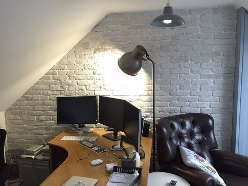 Office Loft conversion using Rustic White Brick Slips