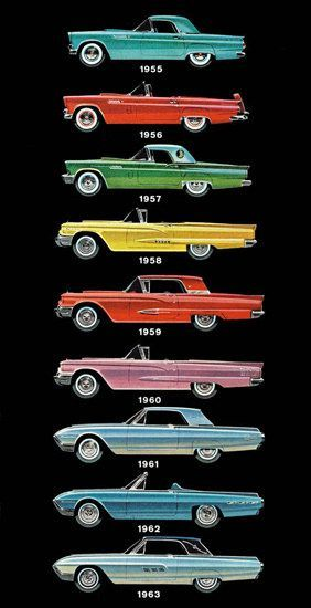 Car Evolution 1955 1963 – What Brand Is This - Mad Men Art: The 1891-1970 Vintage Advertisement Art Collection