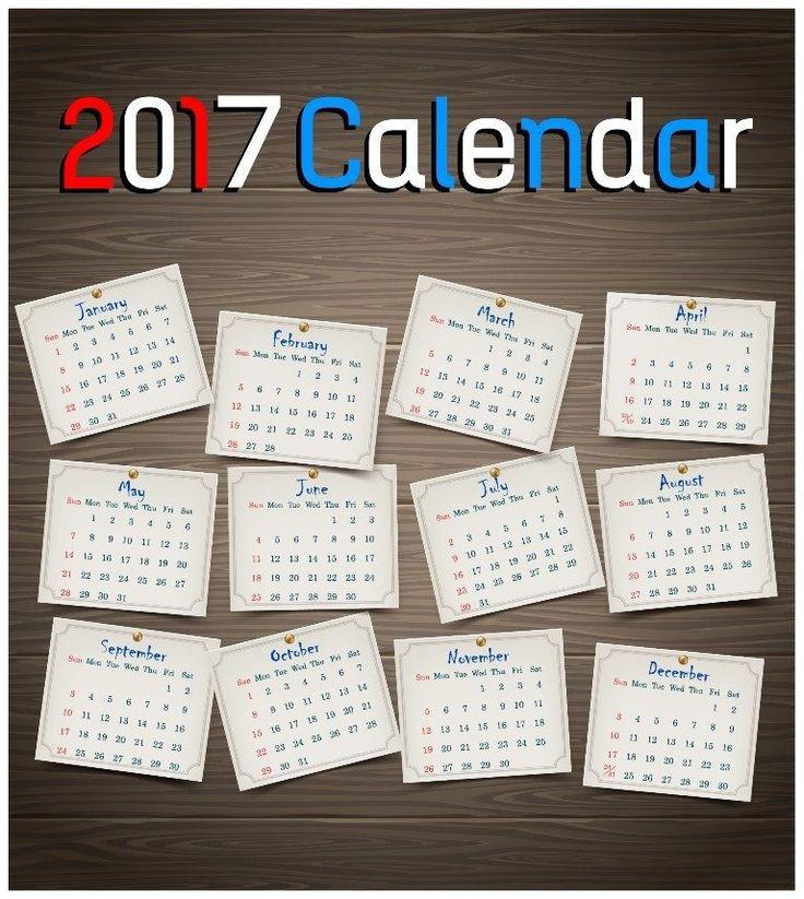 25+ beste ideeën over 2017 printable calendar template op Pinterest - calendar templates