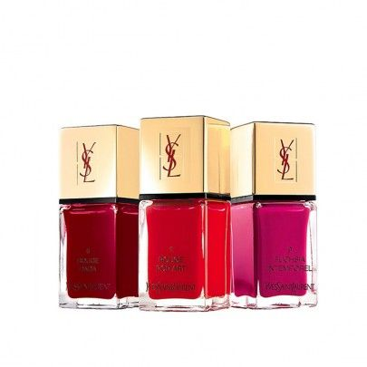 Yves Saint Laurent, La Laque Couture Collection.   A new generation nail lacquer that's both elegant and practical featuring a pantheon of fashion-inspired shades, from subtle and natural to vibrant and dramatic, providing a high-shine finish for an instant touch of glamour.