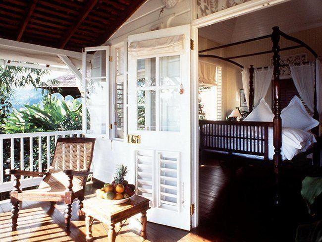 British Colonial - memories of living in Bermuda Strawberry Hill Hotel  Spa, Jamaica