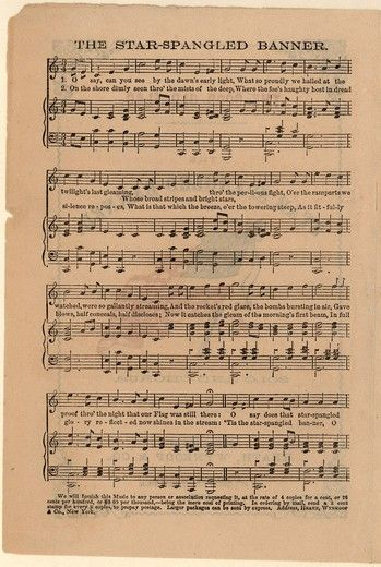 Star Spangled Banner  Sheet Music - free