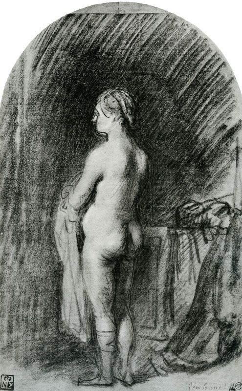 Rembrandt Standing Female Nude