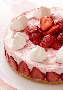 Strawberry Cheesecake Supreme – The more strawberries and whip cream on this cake the better!