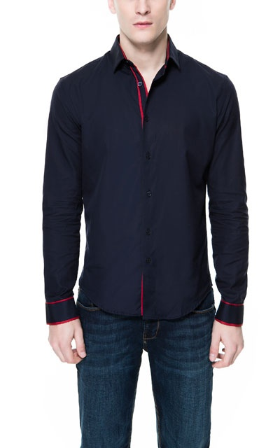 STRUCTURED SHIRT WITH CONTRASTING COLORS